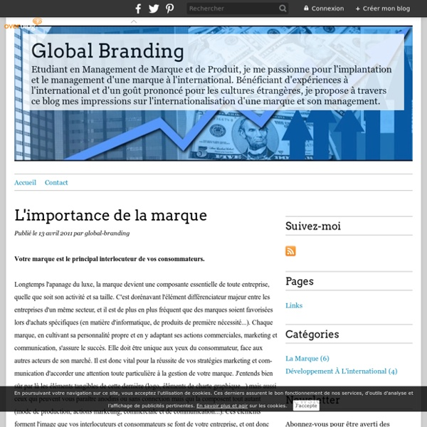 L'importance de la marque - Global Branding