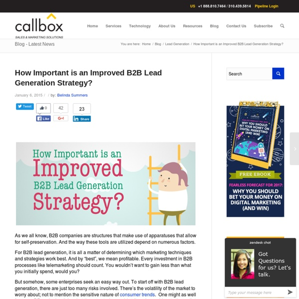 How Important is an Improved B2B Lead Generation Strategy?