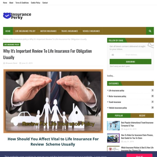 Why It's Important Review To Life Insurance For Obligation Usually