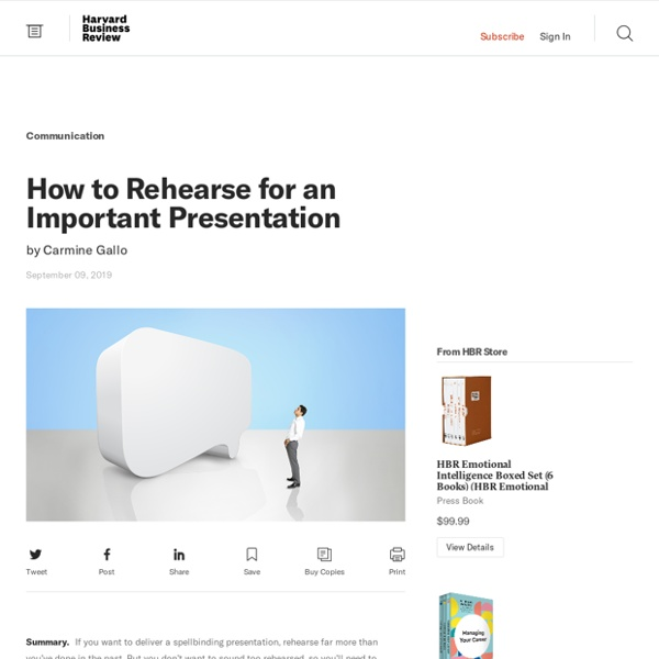 How to Rehearse for an Important Presentation