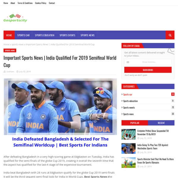 India Qualified For 2019 Semifinal World Cup