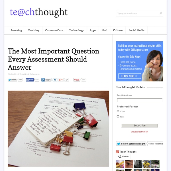 The Most Important Question Every Assessment Should Answer