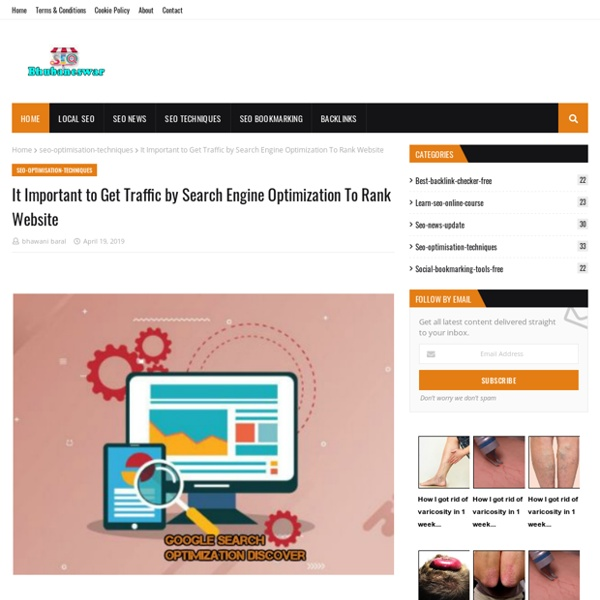 It Important to Get Traffic by Search Engine Optimization To Rank Website
