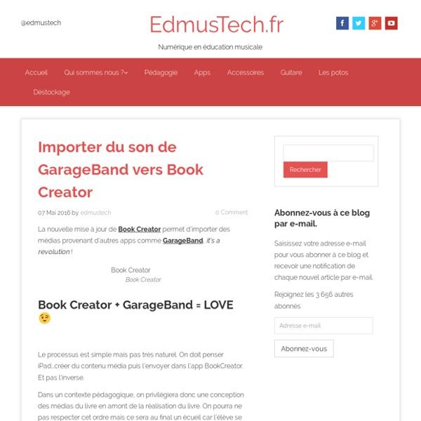Importer du son de GarageBand vers Book Creator