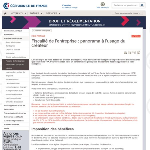Imposition entreprise - Régime TVA, impôt entreprise, fiscalité entreprise