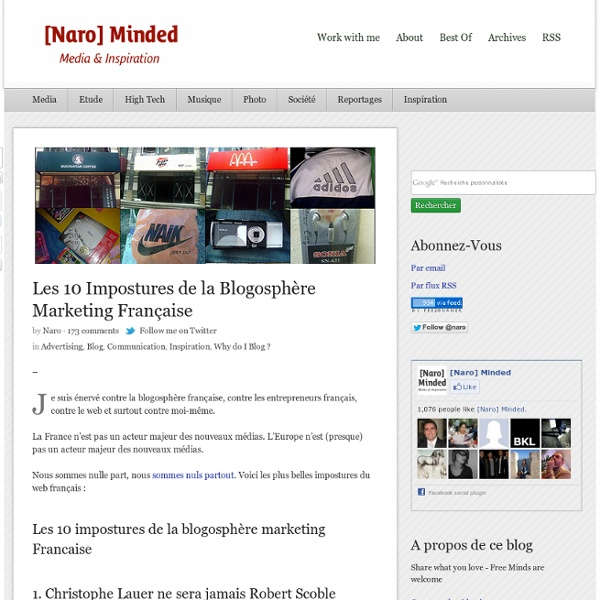 Les 10 Impostures de la Blogosphère Marketing Française