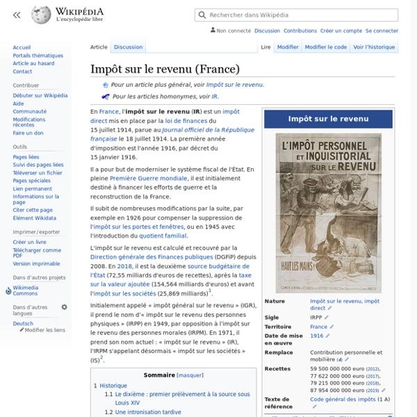 Impôt sur le revenu (France)