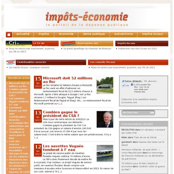 Impots-economie Le CRI