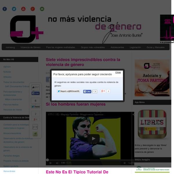 Siete vídeos imprescindibles contra la violencia de género