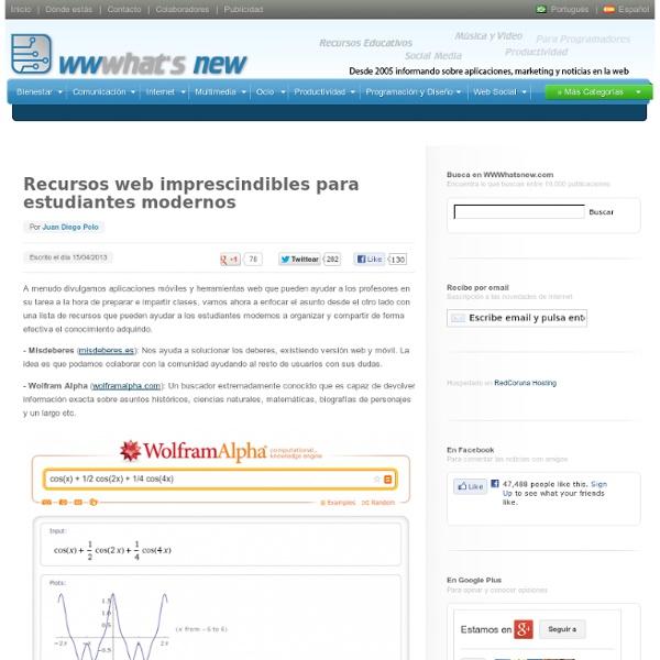 Recursos web imprescindibles para estudiantes modernos