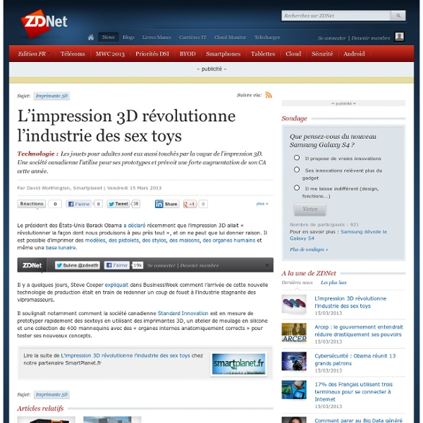 L'impression 3D révolutionne l'industrie des sex toys