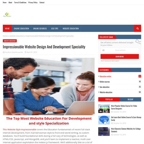 Impressionable Website Design And Development Speciality