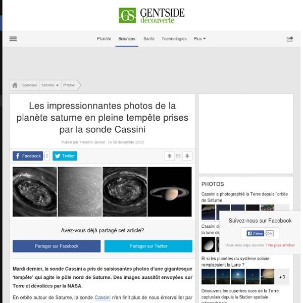 Photos - Sale temps sur Saturne : Cassini photographie une impressionnante tempête
