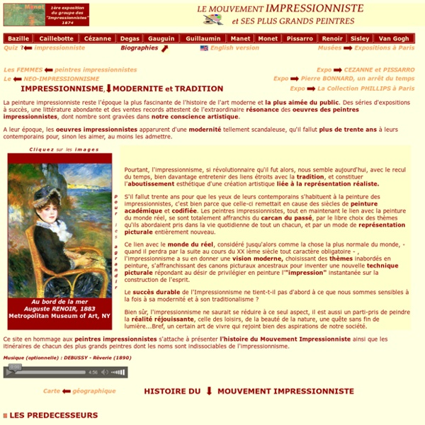 L'Impressionnisme et les peintres impressionnistes