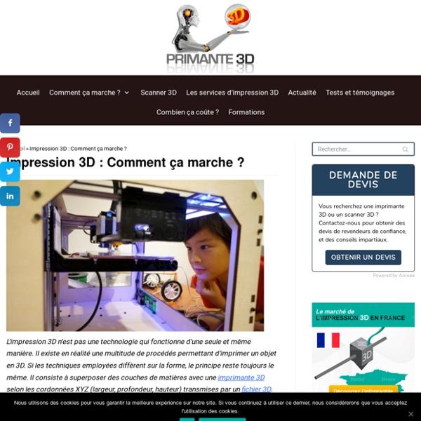 ⇒ Imprimante 3D fonctionnement - Comment ça marche ?