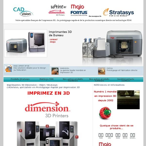 Imprimante 3D Dimension, prototypage rapide ABS par impression 3D