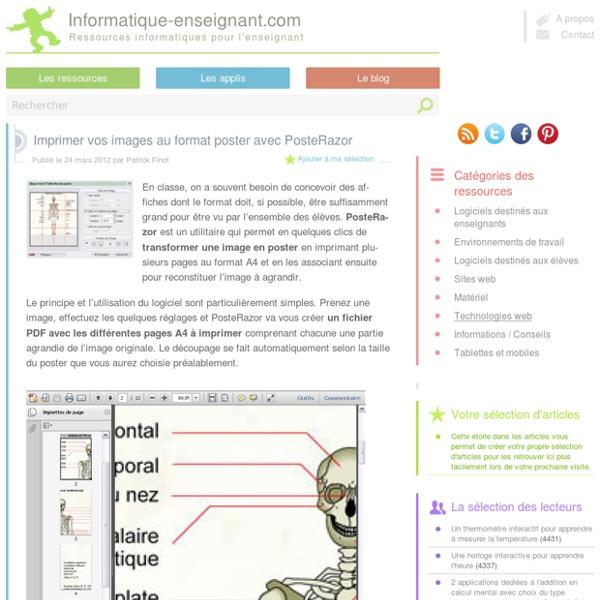 Imprimer une image au format poster avec Posterazor