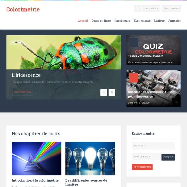 Etude de la couleur - Imprimerie - Colorimetrie