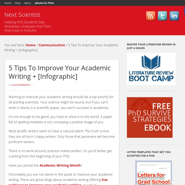 5 Tips To Improve Your Academic Writing And A Grammar Infographic