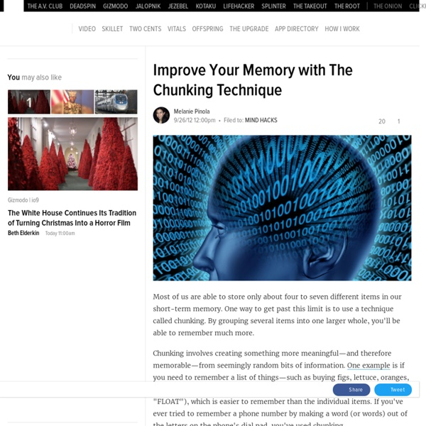 Improve Your Memory with The Chunking Technique