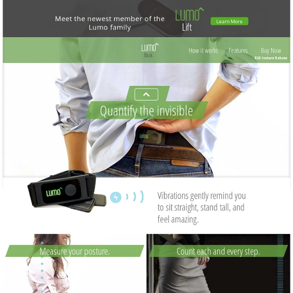 Improve Your Posture Today With The Lumo Back Posture Sensor