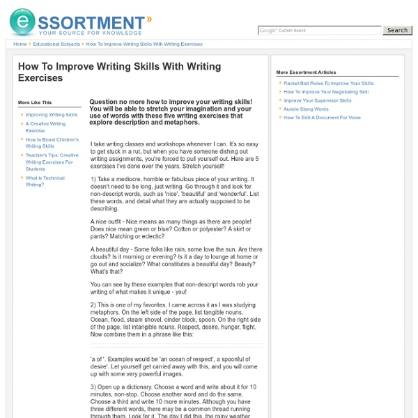 How to improve writing skills with writing exercises