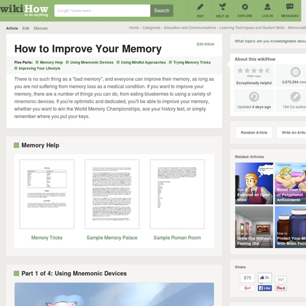 How to Improve Your Memory: 16 steps