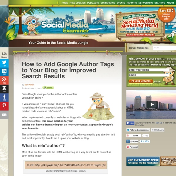 How to Add Google Author Tags to Your Blog for Improved Search Results