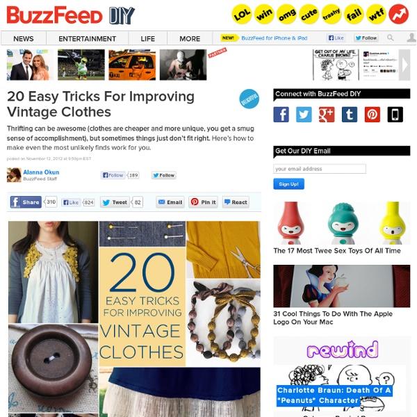 20 Easy Tricks For Improving Vintage Clothes