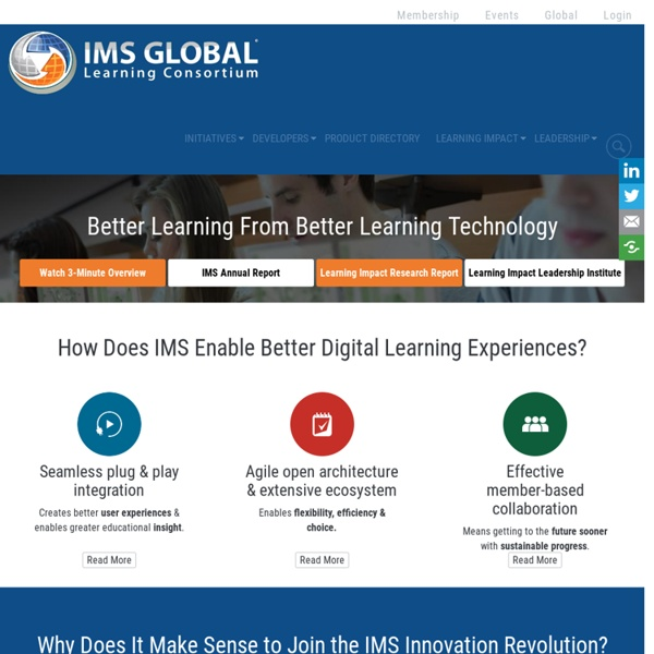 Welcome to IMS Global Learning Consortium