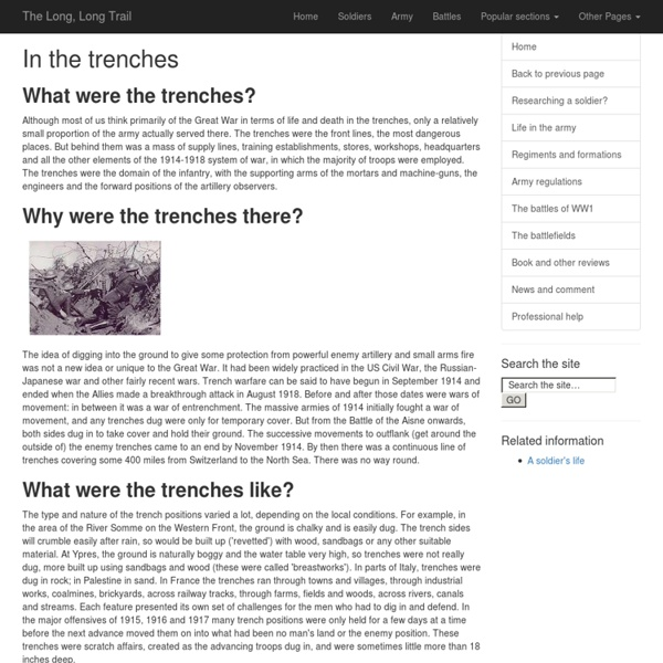 In the trenches of 1914-1918