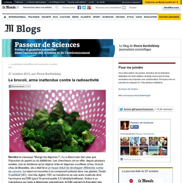 Le brocoli, arme inattendue contre la radioactivité