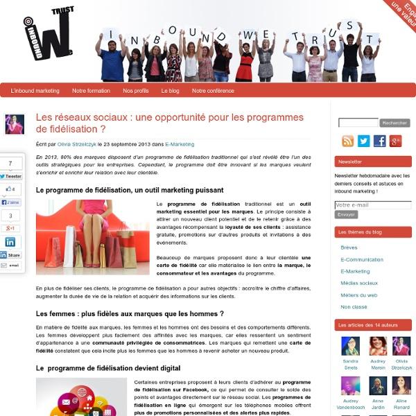 Inboundwetrust Les marques développent une relation plus interactive avec leur clientèle