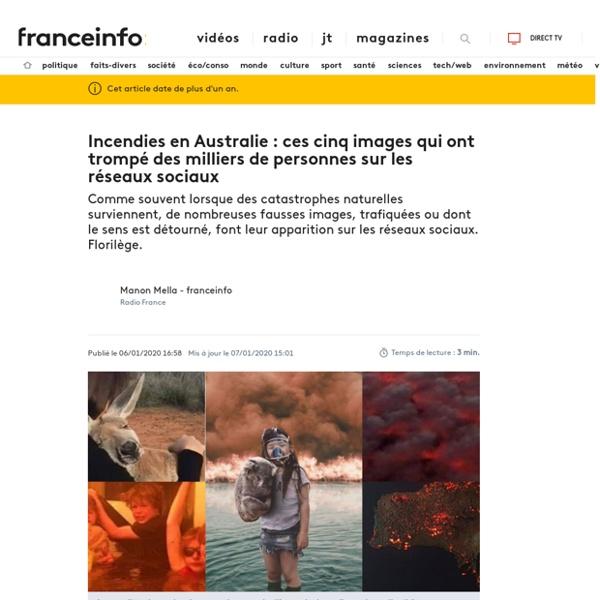 Incendies en Australie : ces cinq images qui ont trompé des milliers de personnes sur les réseaux sociaux