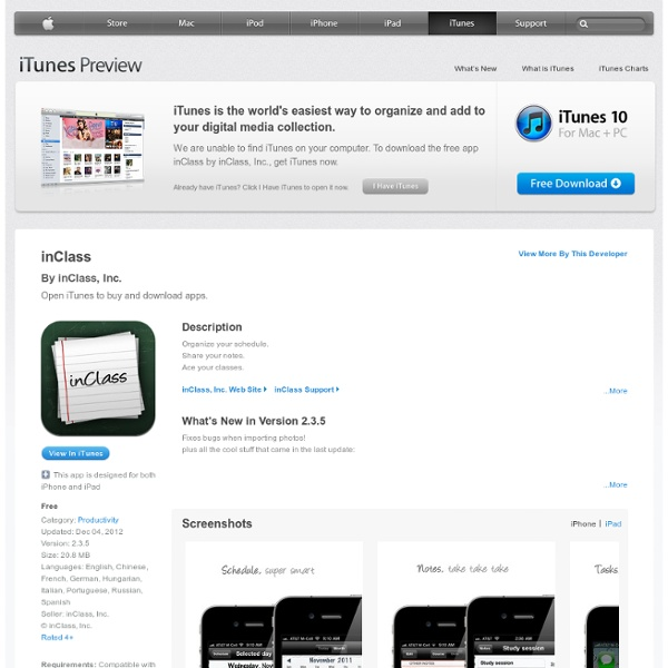 InClass for iPhone, iPod touch, and iPad on the iTunes App Store