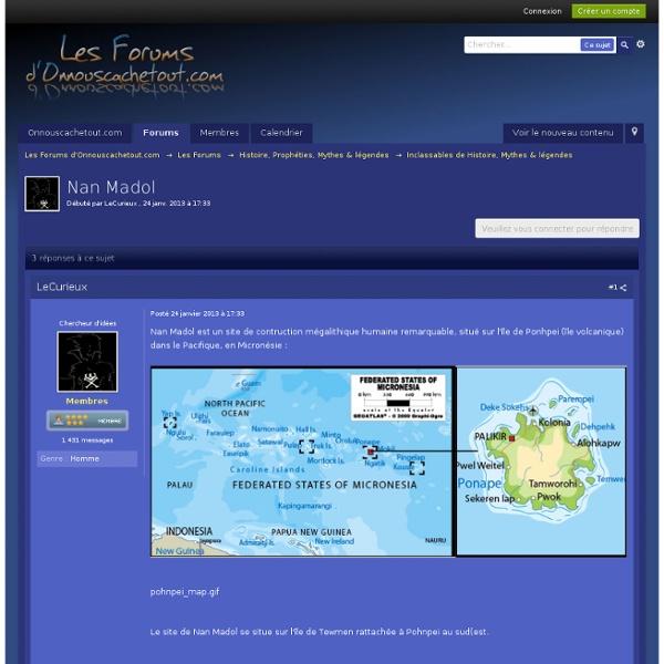 Nan Madol - Inclassables de Histoire, Mythes & légendes