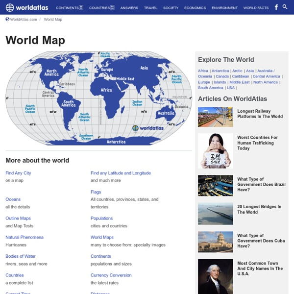 World Atlas / World Map / Atlas of the World including Geography Facts and Flags - worldatlas.com