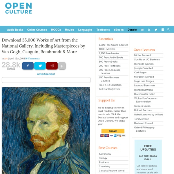 Download 35,000 Works of Art from the National Gallery, Including Masterpieces by Van Gogh, Gauguin, Rembrandt & More