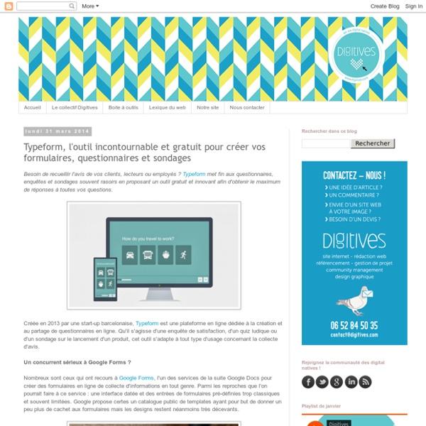 Typeform, l'outil incontournable et gratuit pour créer vos formulaires, questionnaires et sondages