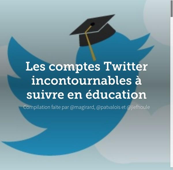 Les comptes Twitter incontournables à suivre en éducation