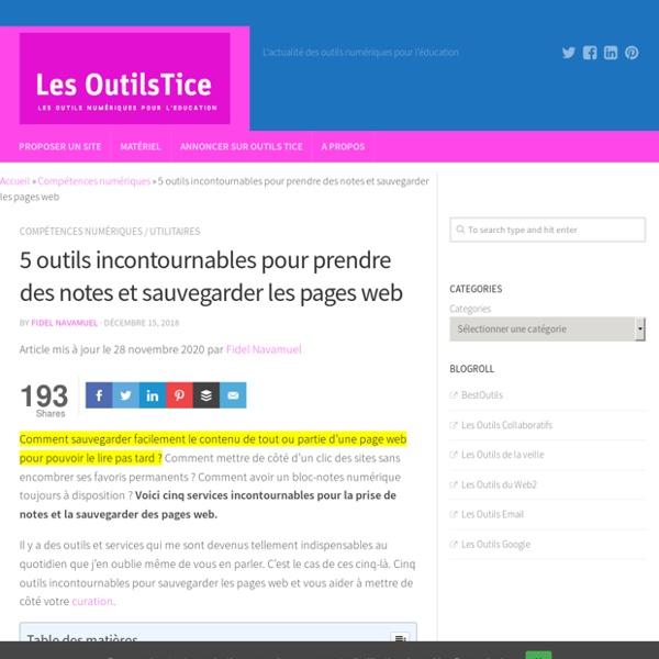 3 outils incontournables pour sauvegarder des pages web