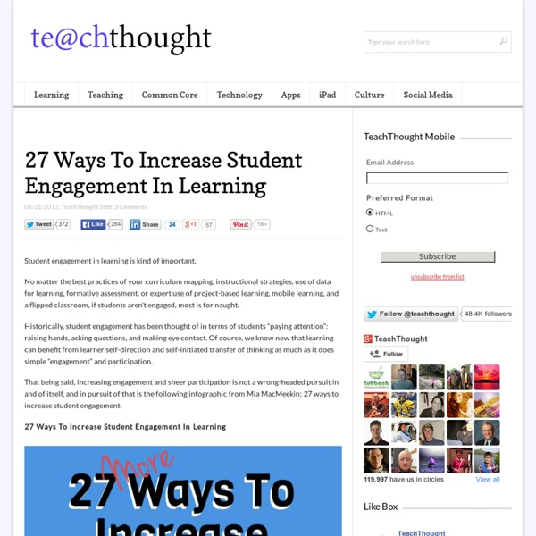 27 Ways To Increase Student Engagement In Learning