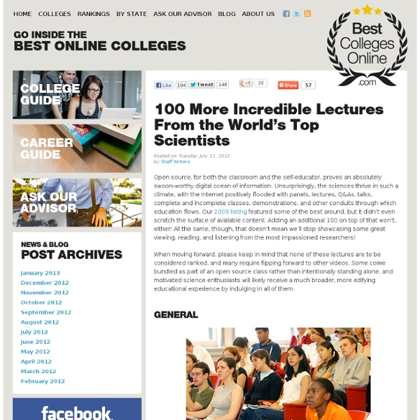 100 More Incredible Lectures From the World's Top Scientists