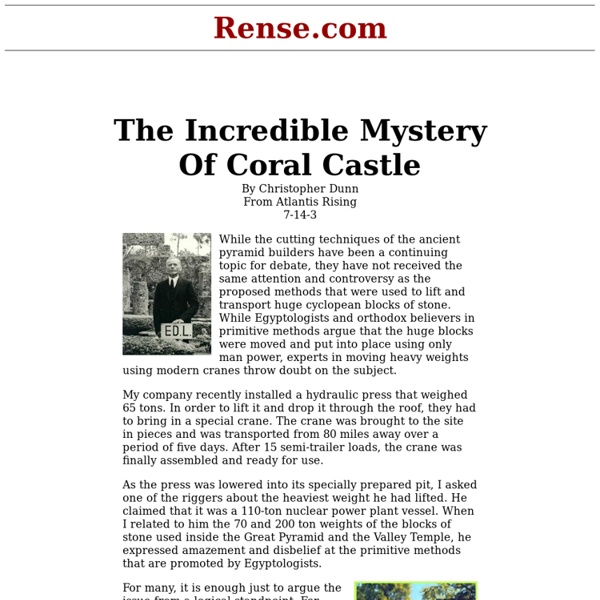 The Incredible Mystery Of Coral Castle