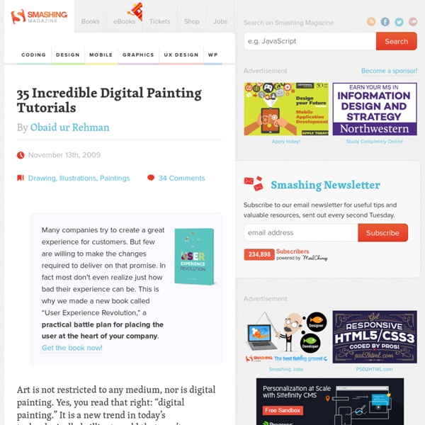 35 Incredible Digital Painting Tutorials