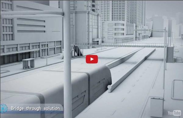 Incredible way of future transportation-Straddling Bus(3D bus)