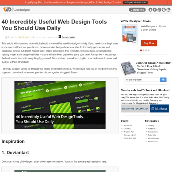 40 Incredibly Useful Web Design Tools You Should Use Daily