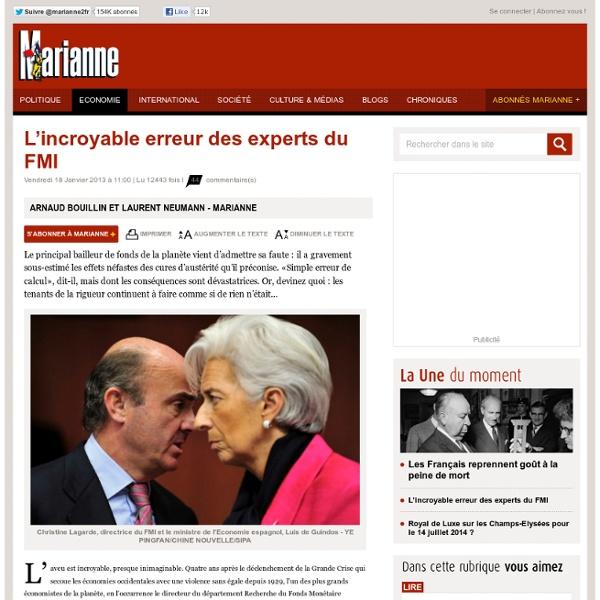 L'incroyable erreur des experts du FMI