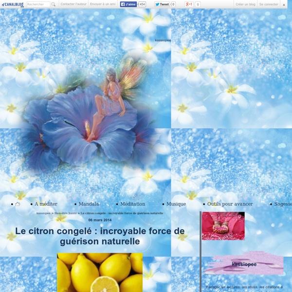 Le citron congelé : incroyable force de guérison naturelle - kassiopee