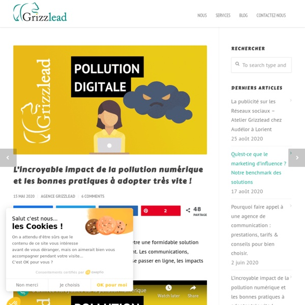 L'incroyable impact de la pollution numérique en 60 chiffres [2020]